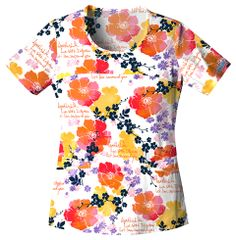 Find printed scrubs and nursing uniforms that are as unique as you are! Find fun, festive, and flattering tops! Cherokee Uniforms, Cherokee Scrubs, Contour Plus, Scrub Pants, Scrub Tops, Floral Tops, Latest Trends, Scoop Neck, How To Wear