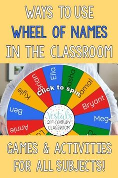 Here are fun and easy ways to use Wheel of Names in the Classroom. This blog post for teachers includes fun, simple games and activities you can use to engage students. #vestals21stcenturyclassroom #wheelofnames #waystousewheelofnames #howtousewheelofnames #wheelofnamesgames #virtualspinner #virtualspinnergames #edtech #educationtechnology
