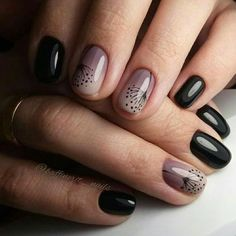 The Best Nail Art Designs – Your Beautiful Nails Diy Nails, Cute Nails, Manicure Ideas, Diy Manicure, Black Ombre Nails, Black Manicure, Black Nail, Nailart, Popular Nail Art