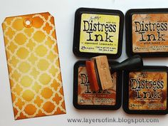 Layers of ink - Really cool waxed paper resist effect here!