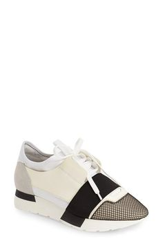 df9880f5812b Balenciaga Mixed Media Sneaker (Women) available at  Nordstrom Strappy  Shoes