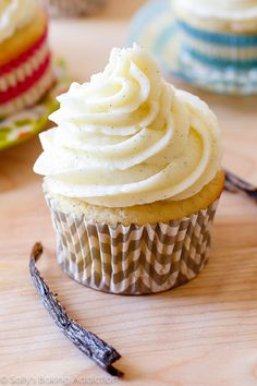 My favorite homemade very vanilla cupcake recipe. Ditch that boxed mix, these are 1,000% better!!