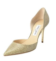 72f0c32d3e0a Jimmy Choo Women s Gold Glitter Pointy Toe High Heels Pumps Shoes – ABDUL  SHOP High Heel