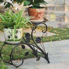 Iron Flower Pot Rack Home Garden Decor Display Stand Bonsai Holder   BidderFace