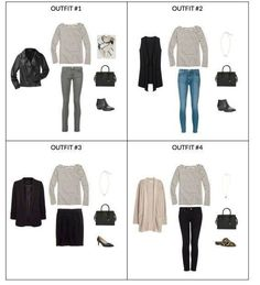 The French Minimalist Capsule Wardrobe: Fall 2017 Collection - Classy Yet Trendy Capsule Wardrobe Mom, Travel Wardrobe, Capsule Outfits, 10 Item Wardrobe, Mom Wardrobe, Office Wardrobe, Dressy Outfits, Fashion Outfits, Fashion Styles