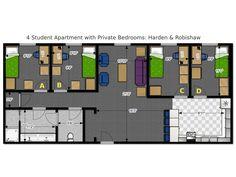 Student Housing 8 Units Suite Style Graduate Housing