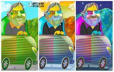 Carlos Cruz Diez, conductor de país, en la mañana, tarde y noche