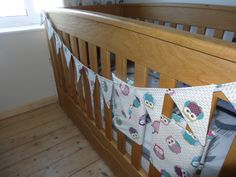 bunting in the same material as peter's curtains for his bedroom Bunting, Cribs, Sewing Projects, Curtains, Bedroom, Furniture, Home Decor, Cots, Garlands