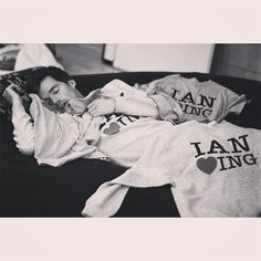 Just Ian Harding taking a nap under Ian Harding sweaters. | Pretty Little Liars