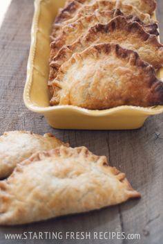 Mmmmm, Garlicky Greens & Chevre Hand Pies from Starting Fresh!