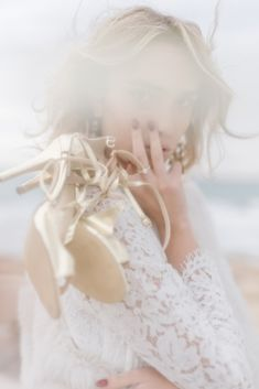 Couture Wedding Inspiration from the Beaches of Apulia – Le Velo Fotografia 6  This atmospheric wedding inspiration is created by complimenting the beach location's neutral tones and adding the finishing touch--the horse!   #bridalmusings #bmloves #Puglia #italy #horse #beachwedding #decor #weddingdecor #beach #petsatweddings Designer Wedding Shoes, Bridal Wedding Shoes, Wedding Dresses, Beach Wedding Inspiration, Puglia Italy, Wedding Honeymoons, Bridal Musings, Neutral Tones, Wedding Vendors