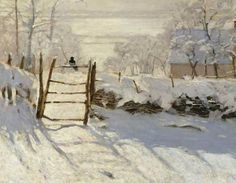 La pie (Die Elster) von Künstler Claude Monet als gerahmtes Bild