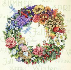 Ghirlanda estiva fiori e frutti