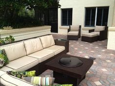 Patio Furniture Set with Gas Fire Pit Table - traditional - patio - other metro - by All Backyard Fun