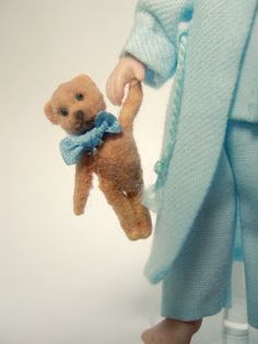 Tutorial: How to Make a Flocked Teddy Bear for a mini doll