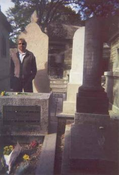 Supposedly, Tom Petty snapped this picture of Jim Morrison's grave site, which shows his image in the background in the center. Considered an authentic ghost photo.