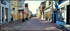 Rüütli street in Pärnu, Estonia