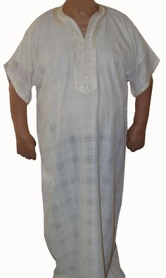 Gandoura Cream - $29.99  A men Caftan that's simplistic yet stunning. Slip into graceful, pure comfort in this outfit made by Moroccan artisan