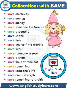 Collocations in English - SAVE - English Study Here Learn English Grammar, Learn English Words, English Idioms, English Phrases, English Language Learning, English Study, English Lessons, English Teaching Materials, English Writing Skills
