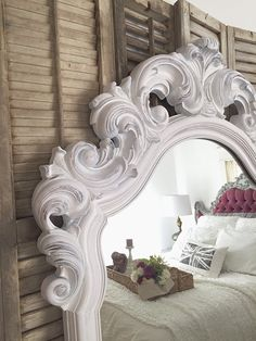 Tall French Mirror W