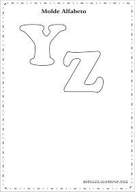 Modelo de letras para cartaz y z
