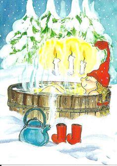 Talvipäivän lämmittelyä (Winter day's warm-up) Virpi Pekkala, Finland Magical Christmas, Very Merry Christmas, Christmas Art, Xmas, Christmas Graphics, Christmas Clipart, Illustrations, Illustration Art, Illusion Art