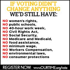 10 Reasons You Should Register to Vote from OurTime.org.