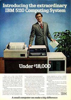 IBM 5110 : notez le lecteur de disquettes de la taille d'une machine à laver le linge...
