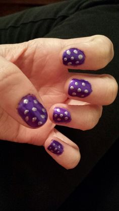 Royal purple and silver sparkles