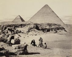 The great pyramids of Giza, Egypt, March 5, 1862, photo by Francis Bedford. (Royal Collection Trust)