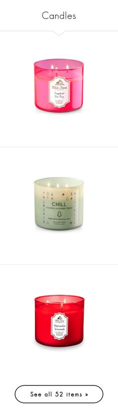 """""""Candles"""" by saraxx113 on Polyvore featuring home, home decor, candles & candleholders, scented candles, fragrance candles, three wick candle, grapefruit scented candles, grapefruit candle, 3 wick candles and lavender scented candles"""