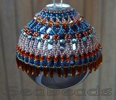 SeaBeads Beaded Christmas Ornament Cover 2016