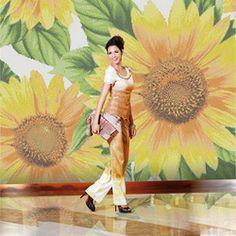 Online Shop Mosaic tv background wall sunflower ceramic tile parquet|Aliexpress Mobile