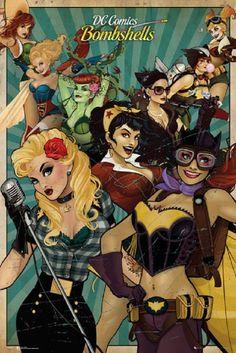 The Femme Fatale of DC Comics - DC Bombshells - Poison Ivy, Harley Quinn, Super  Girl, Wonder Woman.