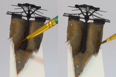Mini Painting - How to Paint Cracked Leather