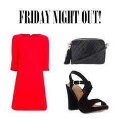 Friday night out! #friday #night #fridaynightout #party #coureges #dress #chanel #chanelvintage #quilted #bag #shoulderbag #chiemihara #sandals #wedges #ootd #dolcitrame