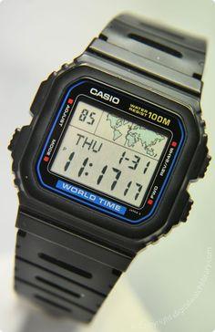 CASIO - W-520U - WorldTime - Vintage Digital Watch - Digital-Watch.com