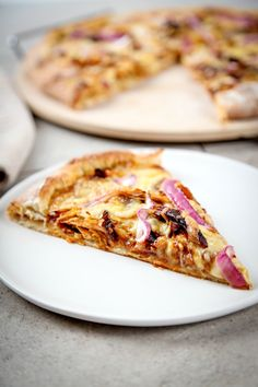 BBQ Chicken Pizza perfect for watching the football game!