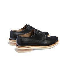 ERMENEGILDO ZEGNA:Chaussures À LacetSemelle en caoutchouc Noir44955009UX
