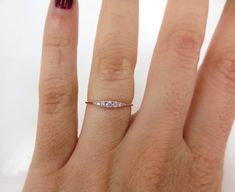 Seven-Stone Graduated Argyle Pink Diamond Ring in 18K Rose