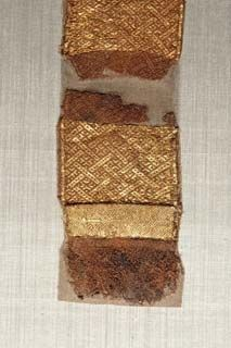 Found from the 'Liebfrauenkiche' Trier Gold brocading on tablet woven band
