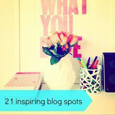 21 inspiring blogging spaces