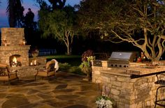 http://designcastconcrete.com/ | Wouldn't this be the most amazing addition to your yard?! #outdoorkitchen #outdoorkitchenpatio #homeimprovement #homeupdates #homeupgrades #homeimprovement