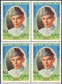 QUAID E AZAM STAMPS | Pakistan Stamps 2001 Quaid-e-Azam