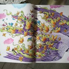 #imagimorphia  #kerbyrosanes  Bird ;) Colouring Pages, Coloring Books, Joanna Basford, Morphe, Crayons, Adult Coloring, Colored Pencils, Color Inspiration, Illustration
