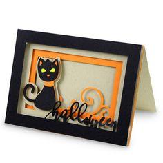 Silhouette Design Store - View Design #149486: halloween cat shadow box card