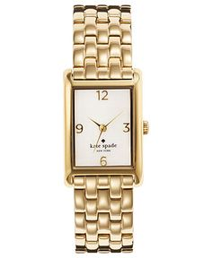 kate spade new york Watch, Women's Cooper Gold-Tone Stainless Steel Bracelet 32x21mm 1YRU0036 - Women's Watches - Jewelry & Watches - Macy's