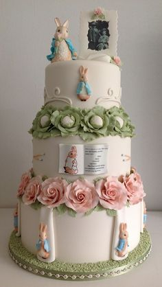 Peter Rabbit Wedding Cake ~ Cake International Entry 2014 ~ by Rita Woort of…