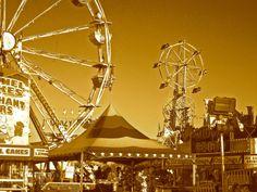 Nostalgic Sepia Ferris Wheel Photo