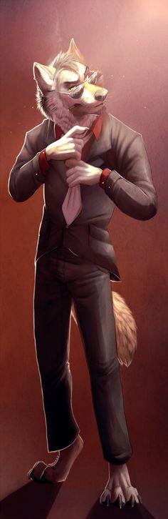 Арт фурри волк деловой костюм фото 511-885